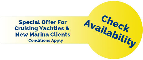 Special offer on marina berth rentals. Conditions apply.